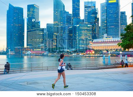 Woman Running Singapore