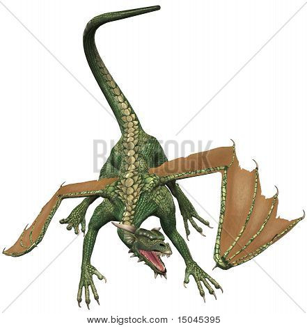 Green Dragon Dinosaur Beast Creature