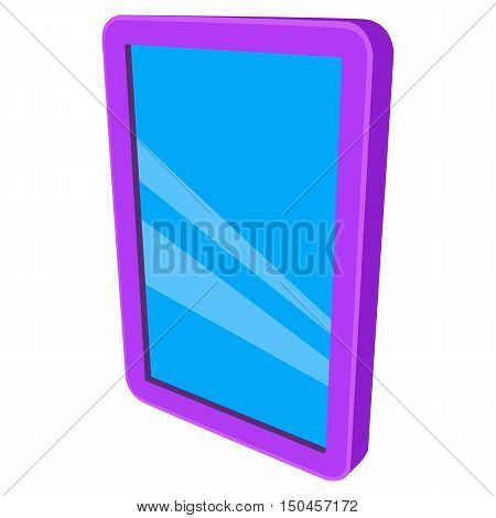 Tablet pc computer with blank screen. Vector illustration of lcd screen pad isolated on white background. Ad template for your apps design.