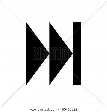 arrow shape next direction. navigation element. vector illustration