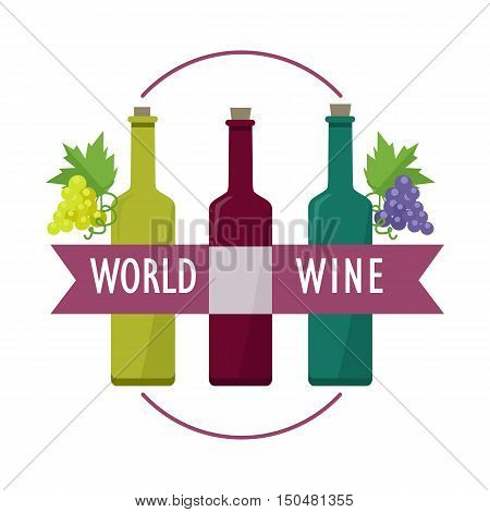 World Wines set. Collection of check elite vintage wines. For labels, tags, tallies, posters, banners. Winemaking concept. Part of series of viniculture production and preparation items. Vector