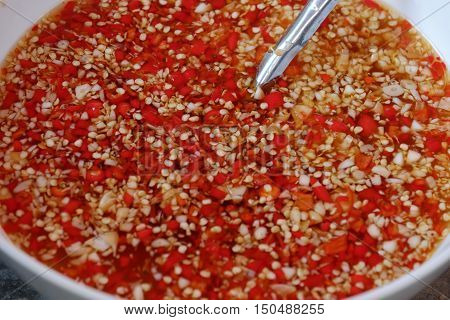 Vietnamese Fish Sauce With Red Hot Chilli