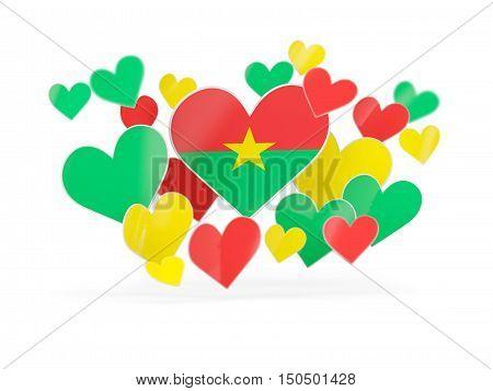 Flag Of Burkina Faso, Heart Shaped Stickers