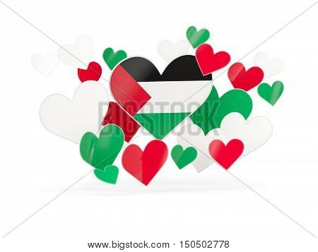 Flag Of Palestinian Territory, Heart Shaped Stickers