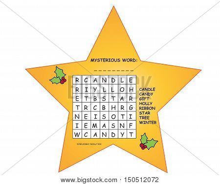 game for children: crossword for christmas for children