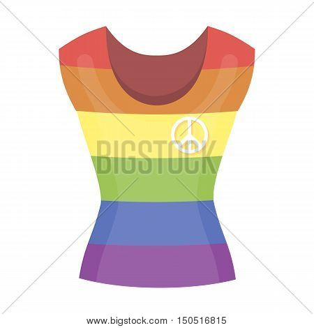 Dress icon cartoon. Single gay icon from the big minority, homosexual collection.