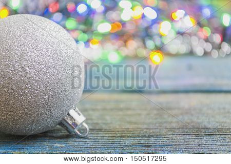 Christmas - new year's colour ball with festoon