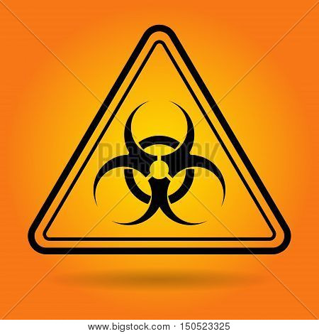 Radiation Safety Sign Icon Flat Vector Illustration