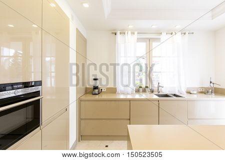 Beige Stylish Kitchen