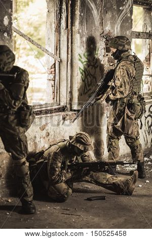 Soldiers On A Training