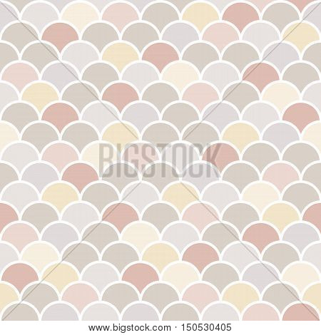 Moroccan seamless pattern, geometric background, fish scale tiles with line