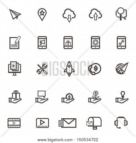 Vector communication Icons set on white background