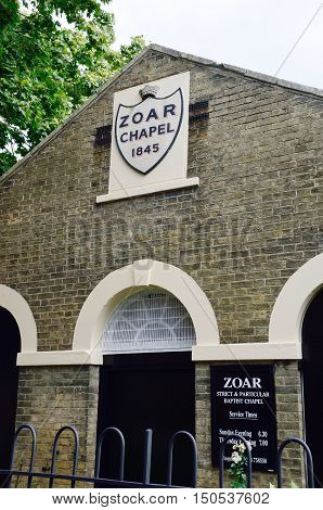 Canterbury United Kingdom - September 30 2016: Zoar Chapel Strict Baptist Church