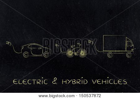 Electric Or Hybrid Vechicles With Big Funny Plug