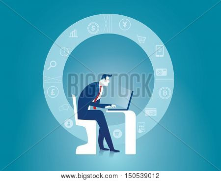 Research business. Planning to do business. Search and seize data that make businesses successful. search. Business concept illustration. Vector flat