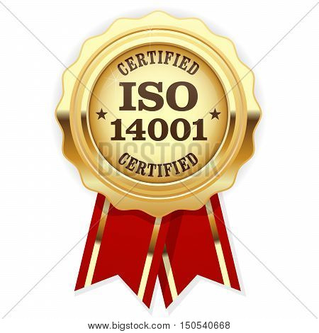 ISO 14001 certified - quality standard golden seal environmental management