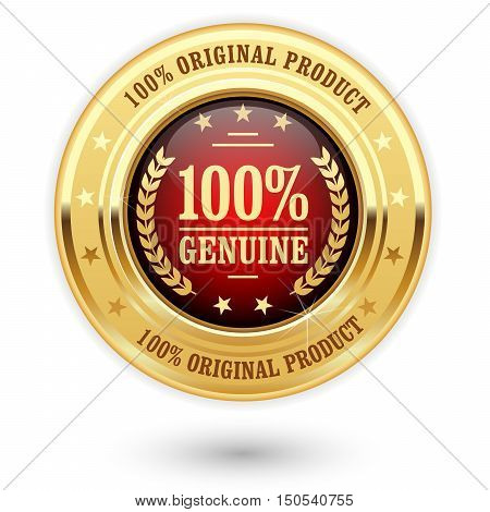 100 percent genuine product - golden insignia (medal)
