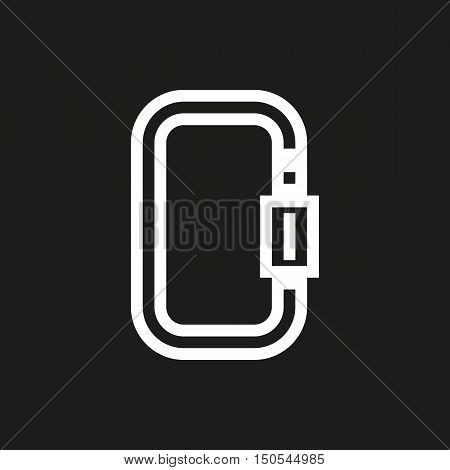 Carbine icon on black background Created For Mobile Web Decor Print Products Applications. Icon isolated. Vector illustration.