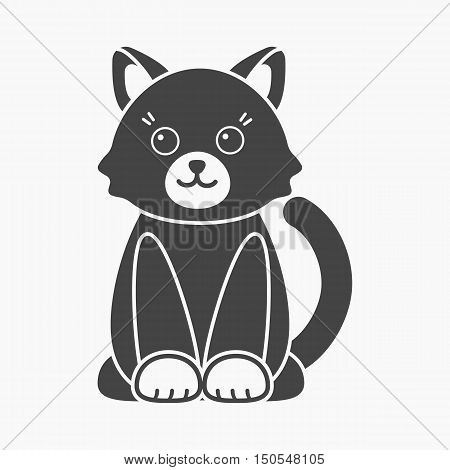 Cat cartoon icon. Illustration for web and mobile.