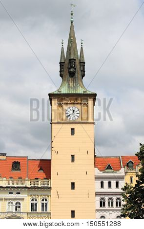 Water tower in the Old Town of Prague, Czech Republic