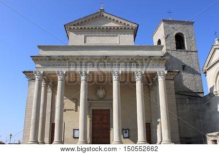 Facade of Basilica of the Saint in San Marino Republic