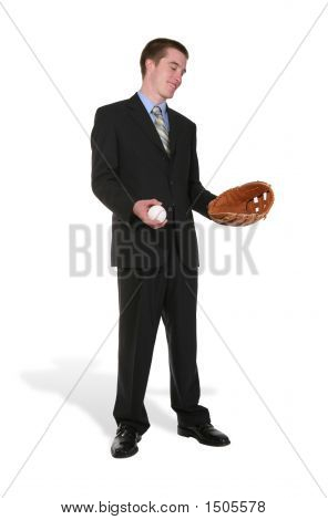 Business Man Baseball
