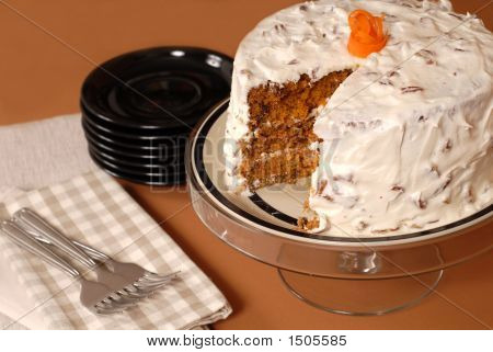 Whole Carrot Cake With Cream Cheese And Pecan Frosting