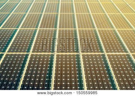 Solar panels surface as renewable energy concept