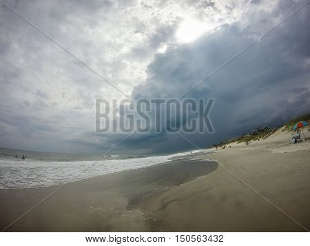 at the topsail beach in north carolina