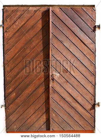 Old Military sealed door at the Petrovaradin fortress in Serbia