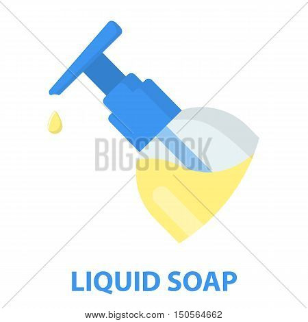 Liquid soap cartoon icon. Illustration for web and mobile.