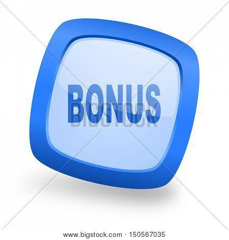 bonus blue glossy web design icon