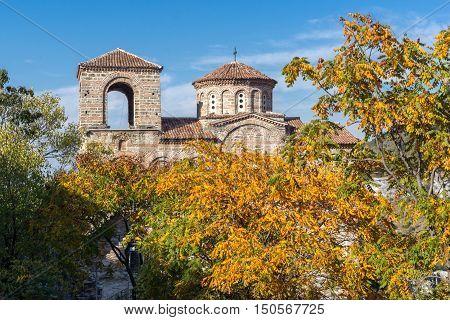 Autumn view of Asen's Fortress, Asenovgrad, Plovdiv Region, Bulgaria
