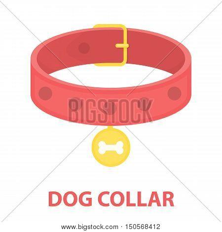Dog collar rastr illustration icon in cartoon design