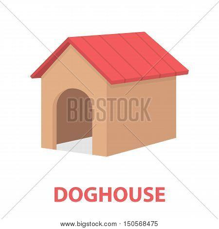 Doghouse rastr illustration icon in cartoon design