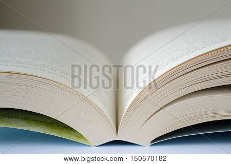Opened book - close-up depth of field
