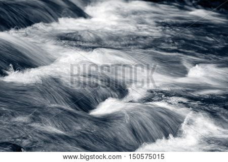 Fast flowing mountain stream