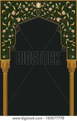 High detailed facade art arch