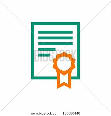 charter icon on white background Created For Mobile Infographics Web Decor Print Products Applications. Icon isolated. Vector illustration
