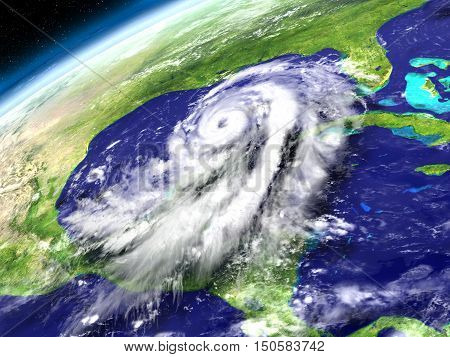 Orbit View Of Hurricane Matthew