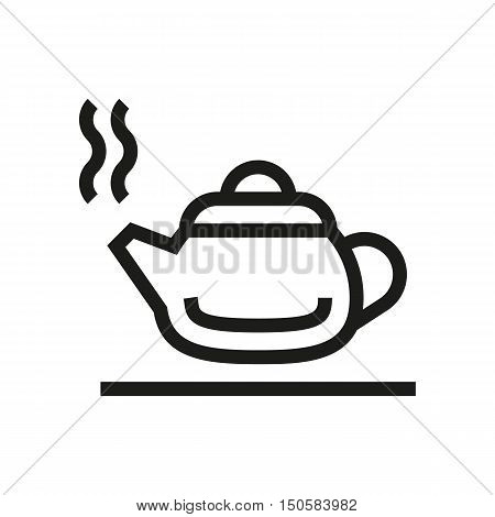 hot kettle silhouette icon on white background Created For Mobile Web Decor Print Products Applications. Icon isolated. Vector illustration