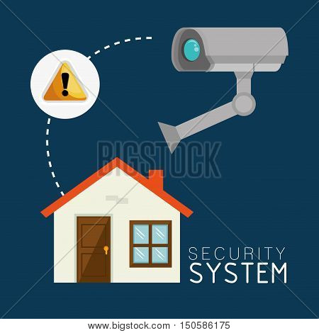 house alert security camera system icon set. colorful design. vector illustration