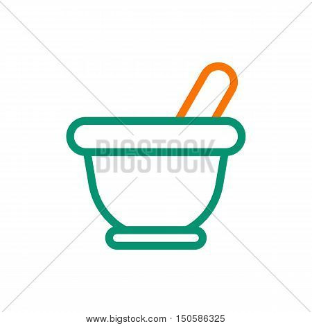 Mortar icon on white background Created For Mobile Web Decor Print Products Applications. Icon isolated. Vector illustration