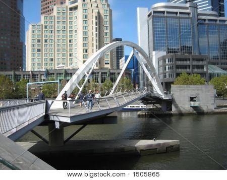 Footbridge Across The Yarra