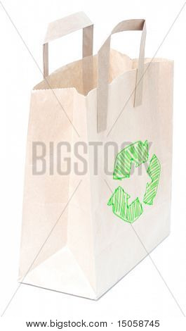 A brown bag isolated on white