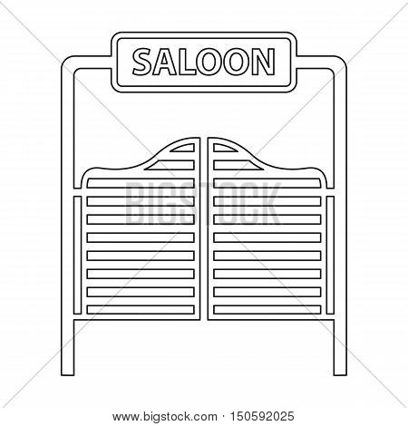 Saloon icon line. Singe western icon from the wild west collection.