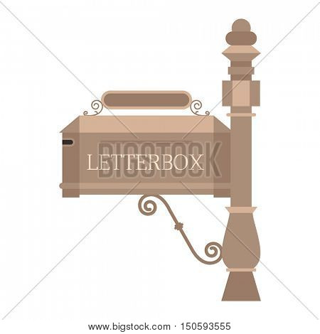 Post mail box vector isolated