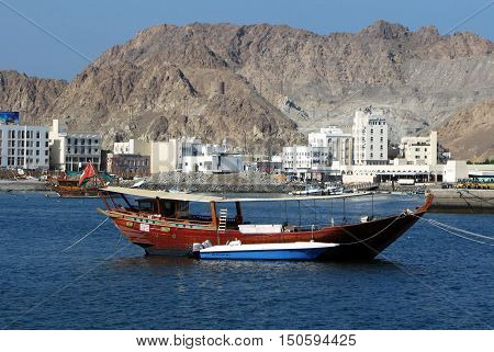 Muttrah Harbor In Oman