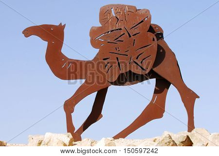 Camel Statues In The Negev, Israel
