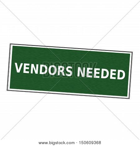 vendors needed white wording on picture frame Green background